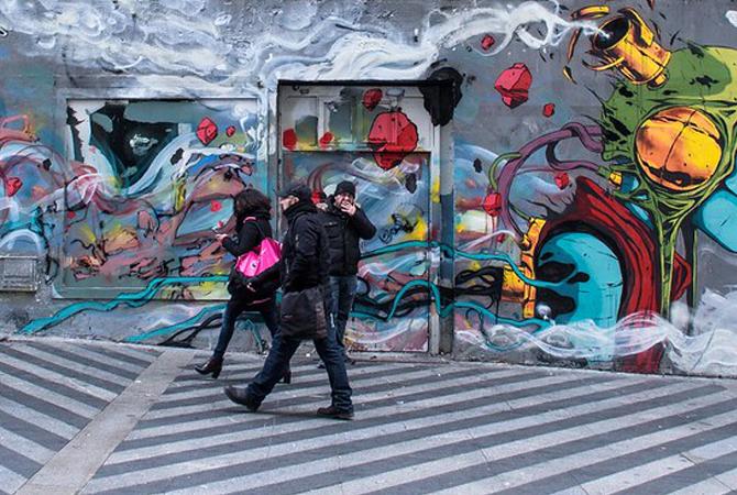 גרפיטי ואומנות רחוב במדריד נפגשים ליצירה אחת גדולה!